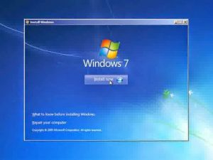 Install Windows7 Ultimate